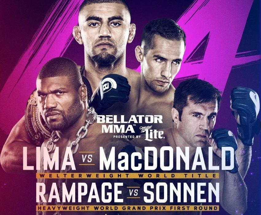Турнир MMA Bellator 192 20-21 января:  когда - время, кард - все участники, бои Лима - Макдональд, Джексон - Соннен и другие, где смотреть прямую трансляцию онлайн