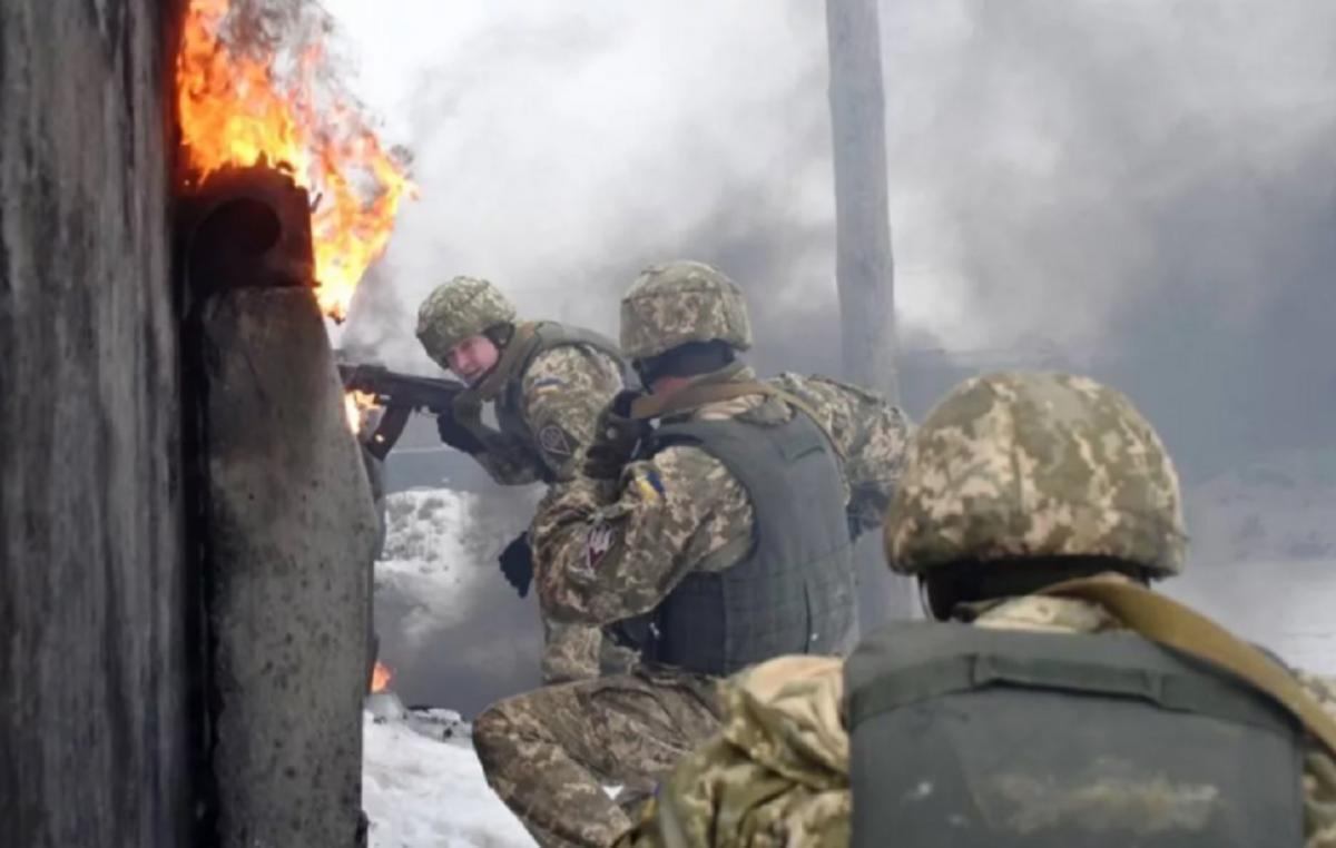 Бои в Донбассе - наступление