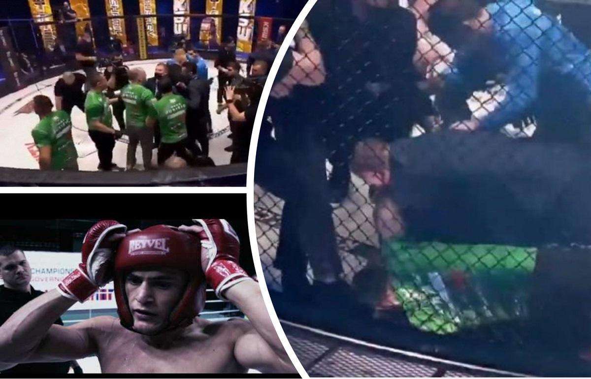 Бойцы MMA из России и Словении после поединка спровоцировали массовую драку