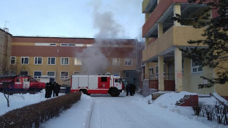 В Омске при пожаре в БСМП-1 никто не пострадал
