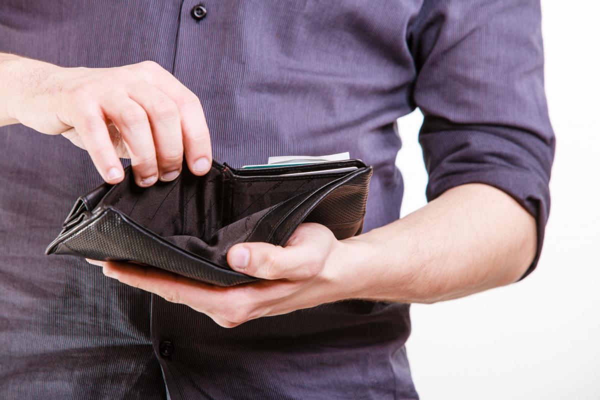 деньги кошелёк пусто
