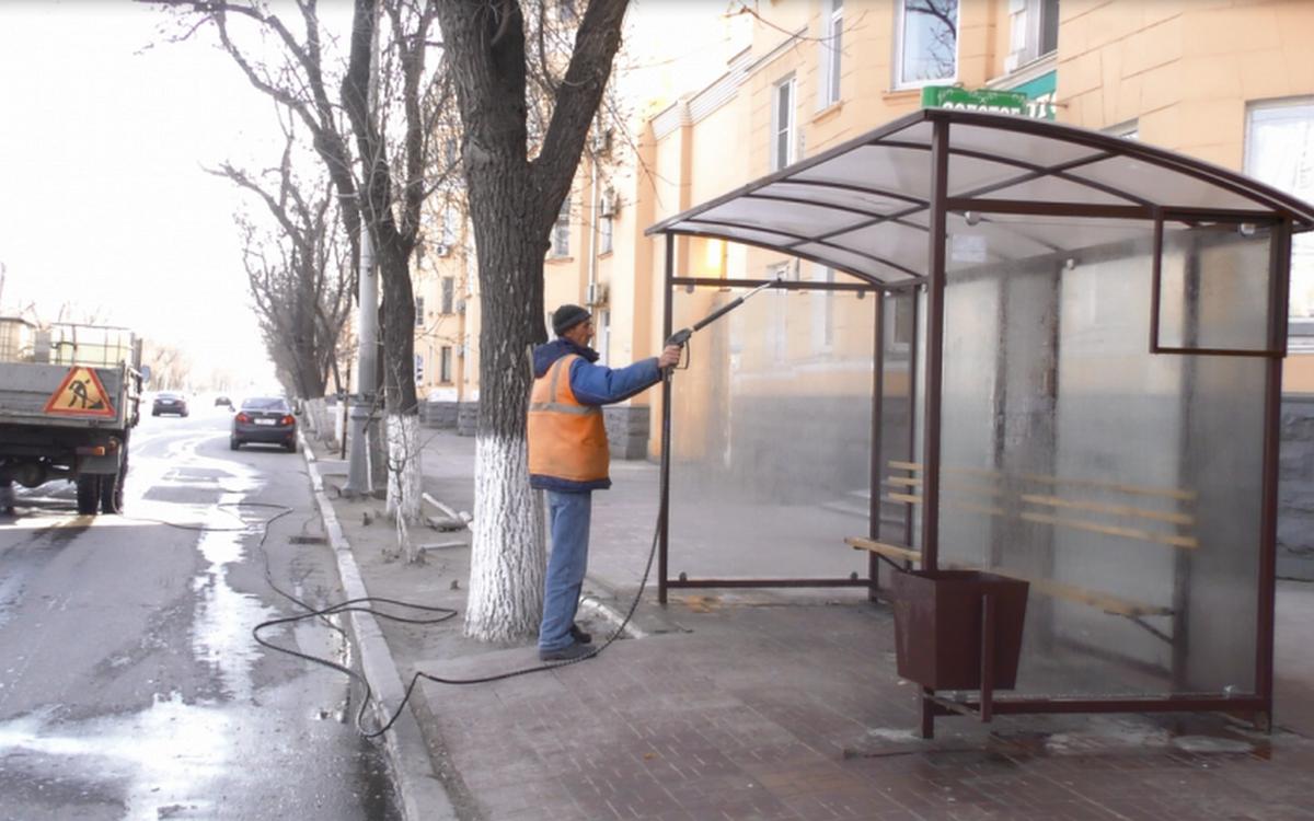 Дезинфекция остановок в Астрахани