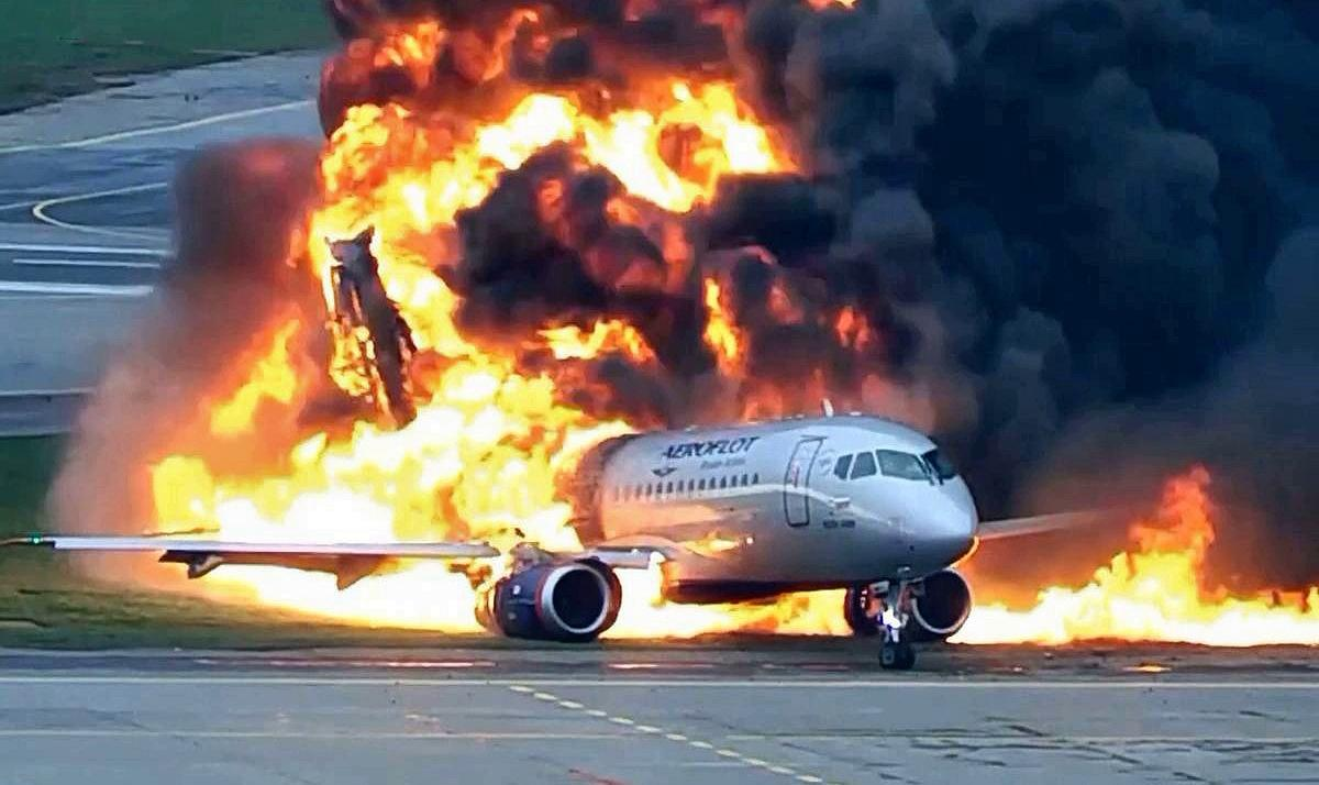 Горящий самолет
