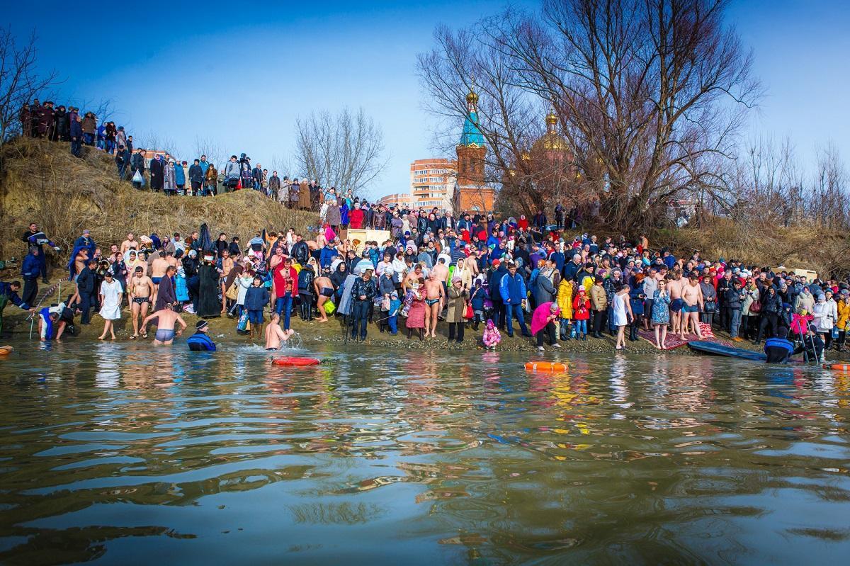 Крещенские купания, Кубань