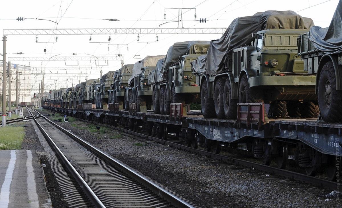 Ростов Украина эшелон военная техника