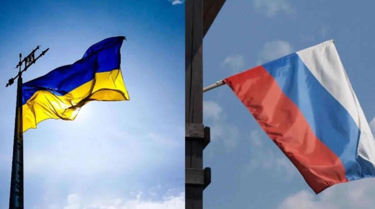 Россия и Украина флаги