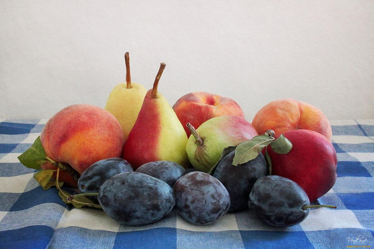 Яблоки груши сливы