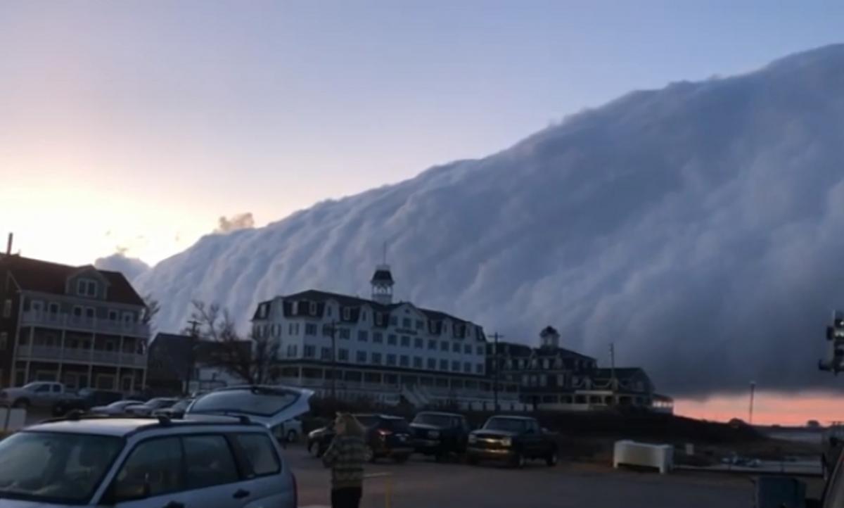 Жуткое облако наблюдали в Род-Айленде