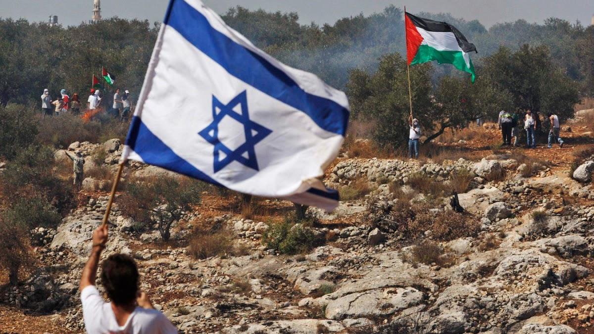 палестино-израильский конфликт флаги война
