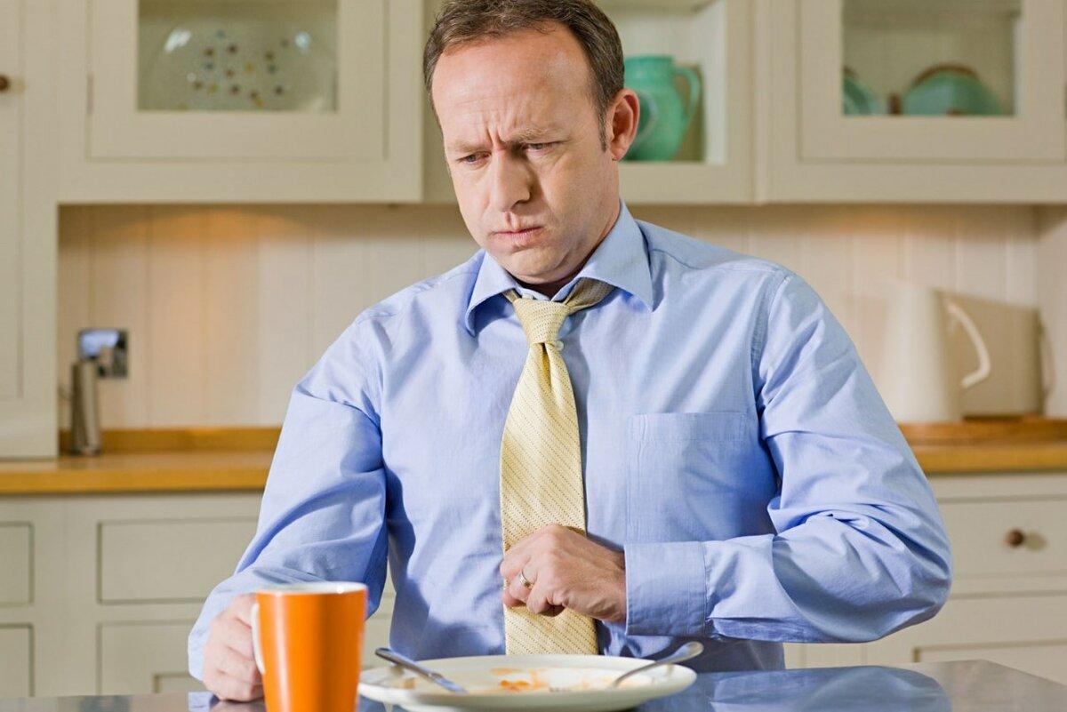 изжога, болезнь, завтрак, мужчина