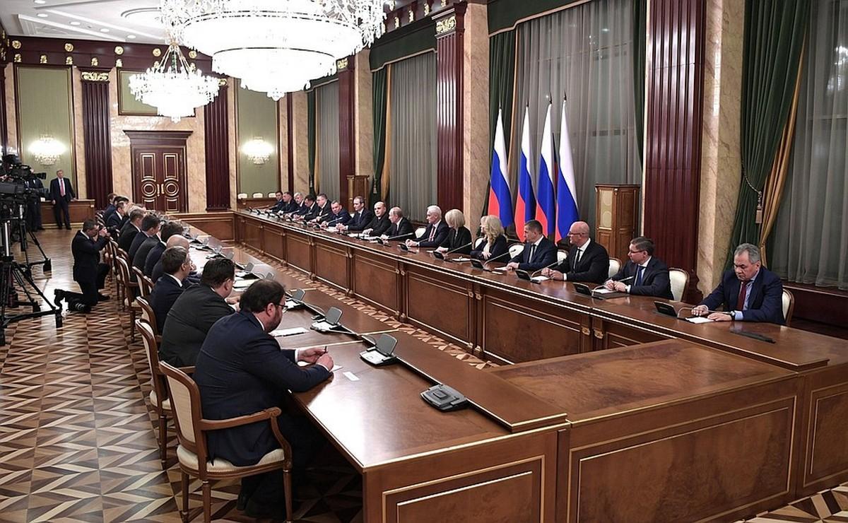 Встреча Владимира Путина с новым составом правительства