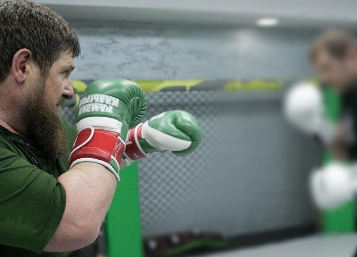 Кадыров ударом в челюсть