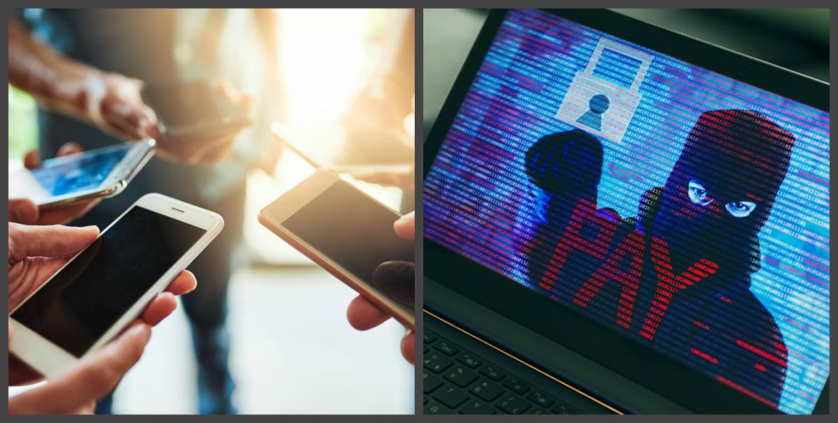 смартфон в руках хакеры кибератака фото