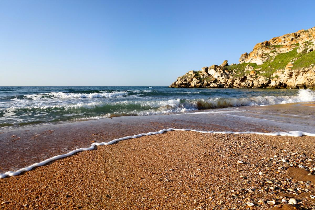 Крым пляж море гора