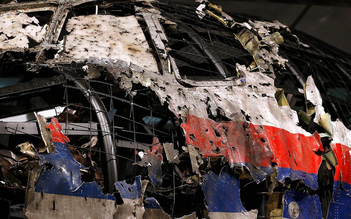 Обломки разбившегося малазийского боинга MH17