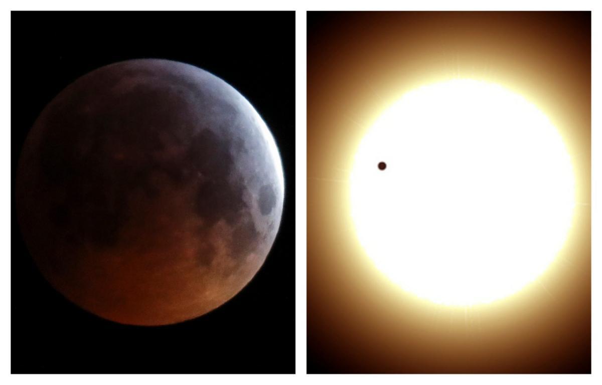 Коллаж картинка затмение Луны затмение Венеры