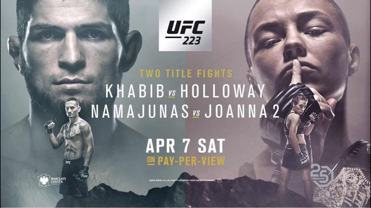 Турнир UFC 223 в Нью-Йорке 7-8 апреля: когда - в какое время пройдет, кард - список участников, бои Нурмагомедов - Холлоуэй, Намаюнас - Енджейчик и другие, где смотреть прямую трансляцию