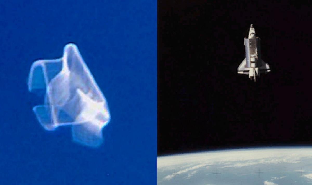 Космическая «медуза» возле аппарата «Атлантис»