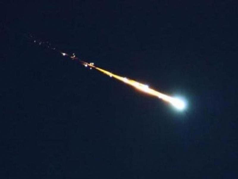 В Сочи падение метеорита 15 декабря попало на видео