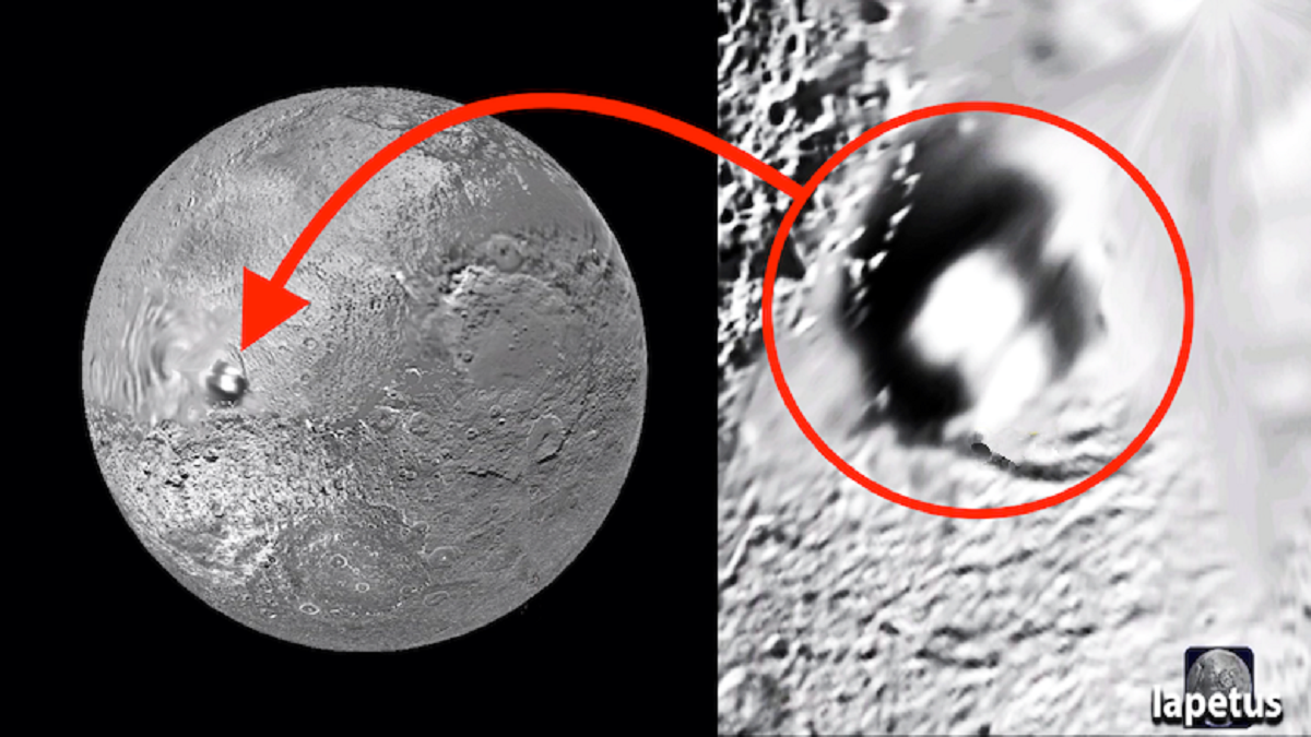 инопланетная база на спутнике Сатурна