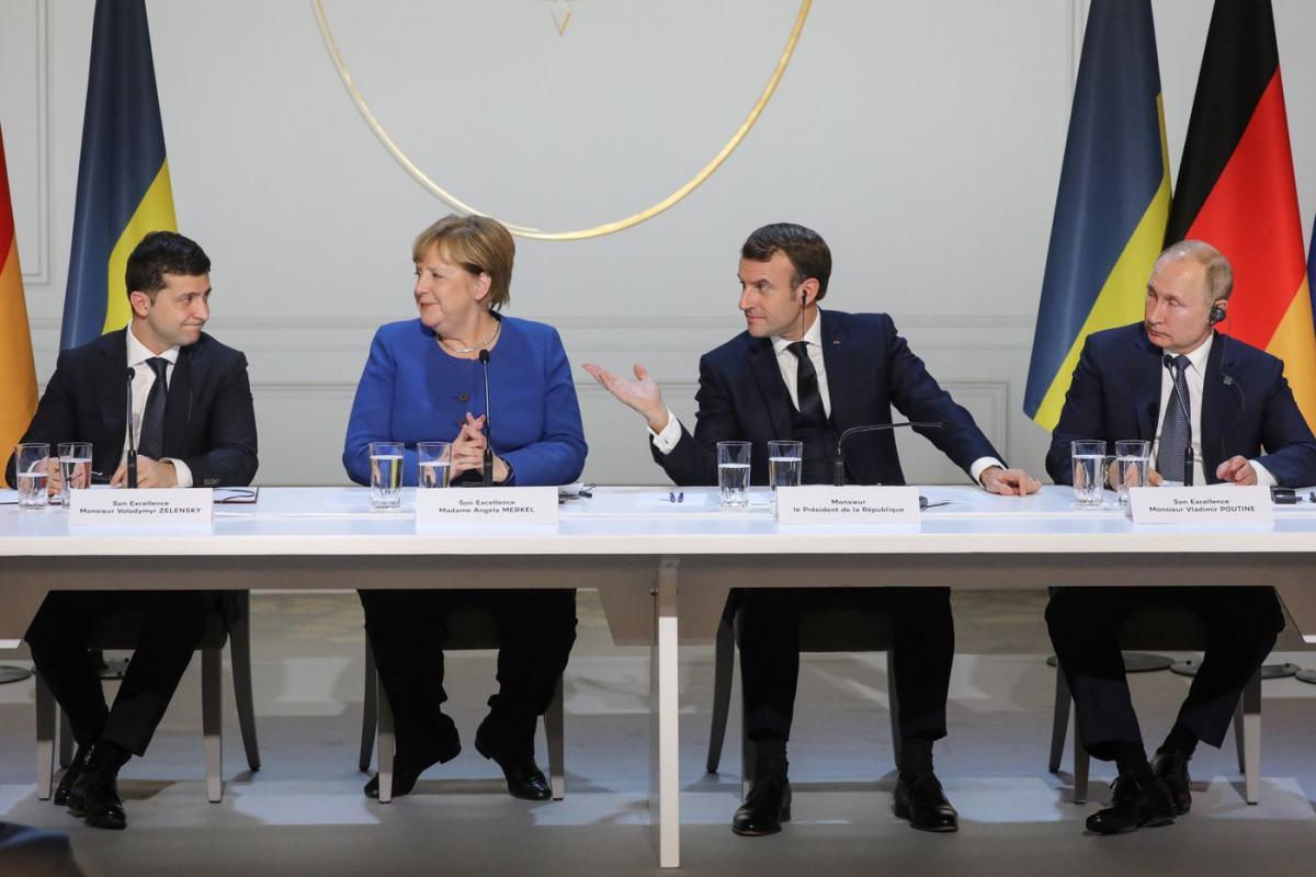 Саммит в Париже, Зеленский, Меркель, Путин