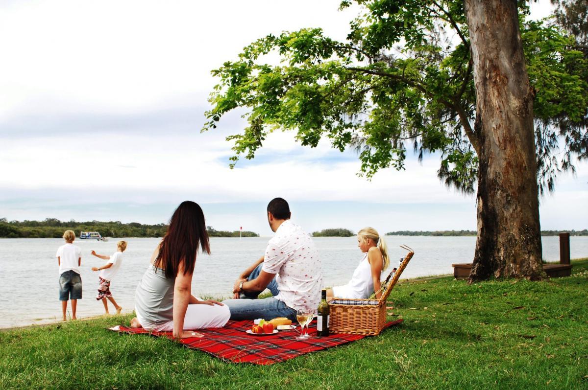 Пикник природа семья