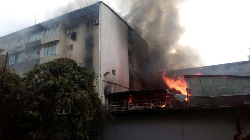 Пожар в сочинском общежитии