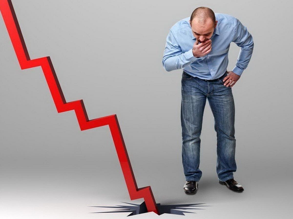 Диаграмма падение доходов