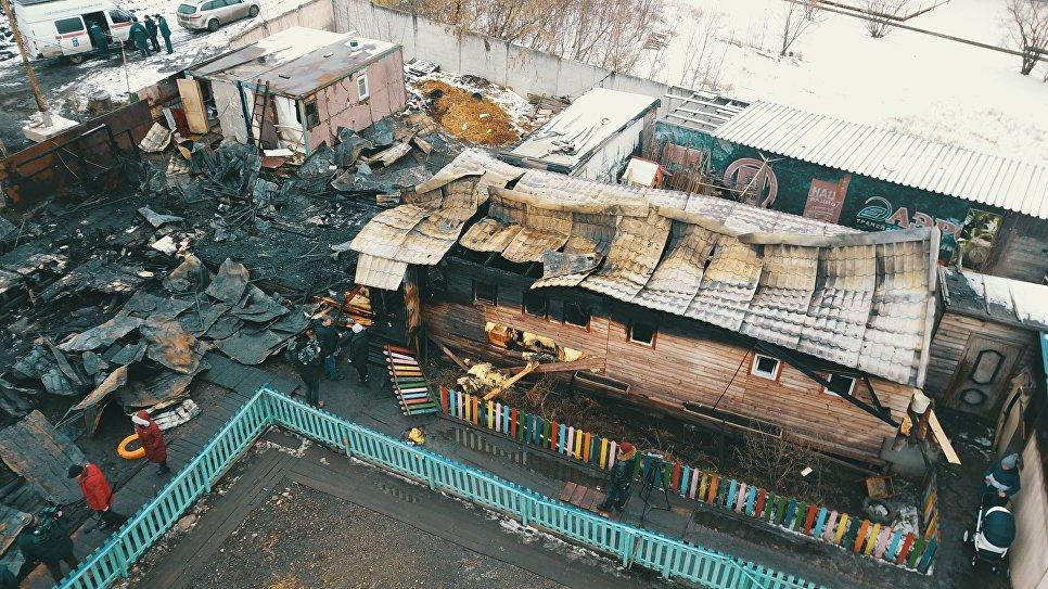 В Москве сгорел приют для бездомных животных