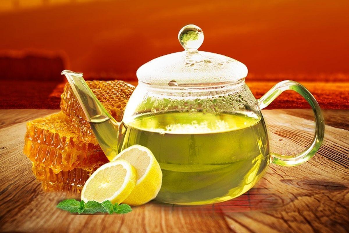 мёд и чай с лимоном картинка