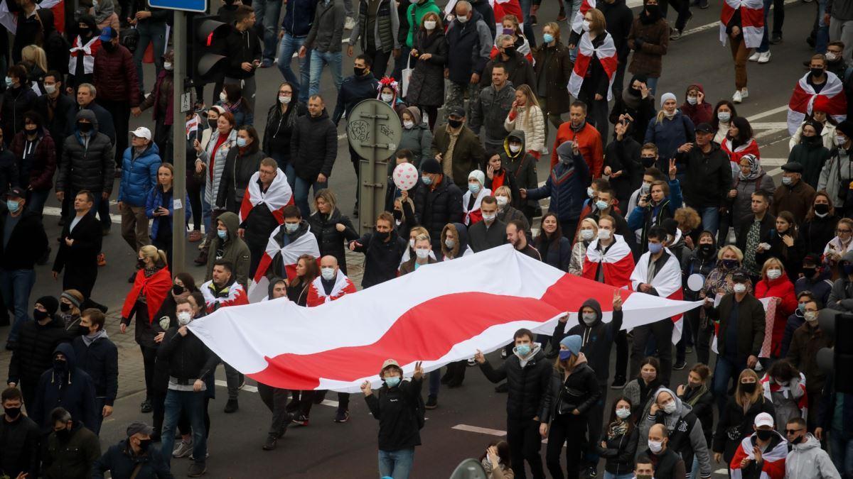 Протесты на улицах Белоруссии