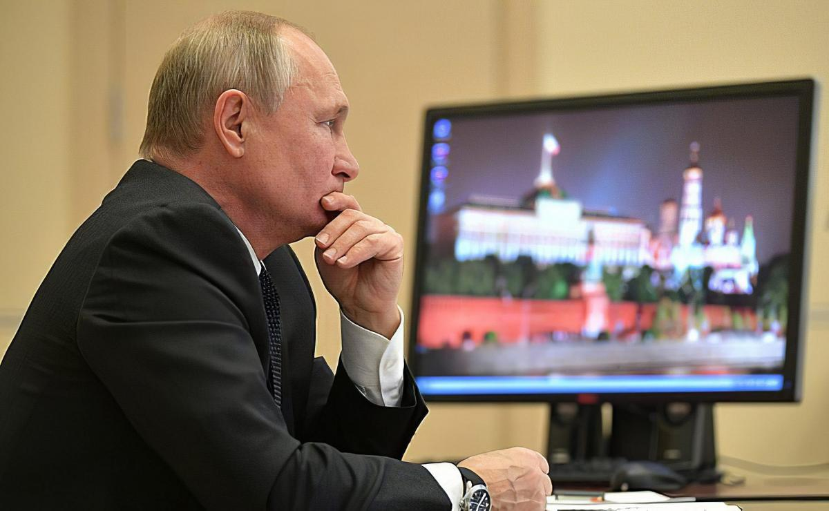 Путин монитор кабинет последние фото