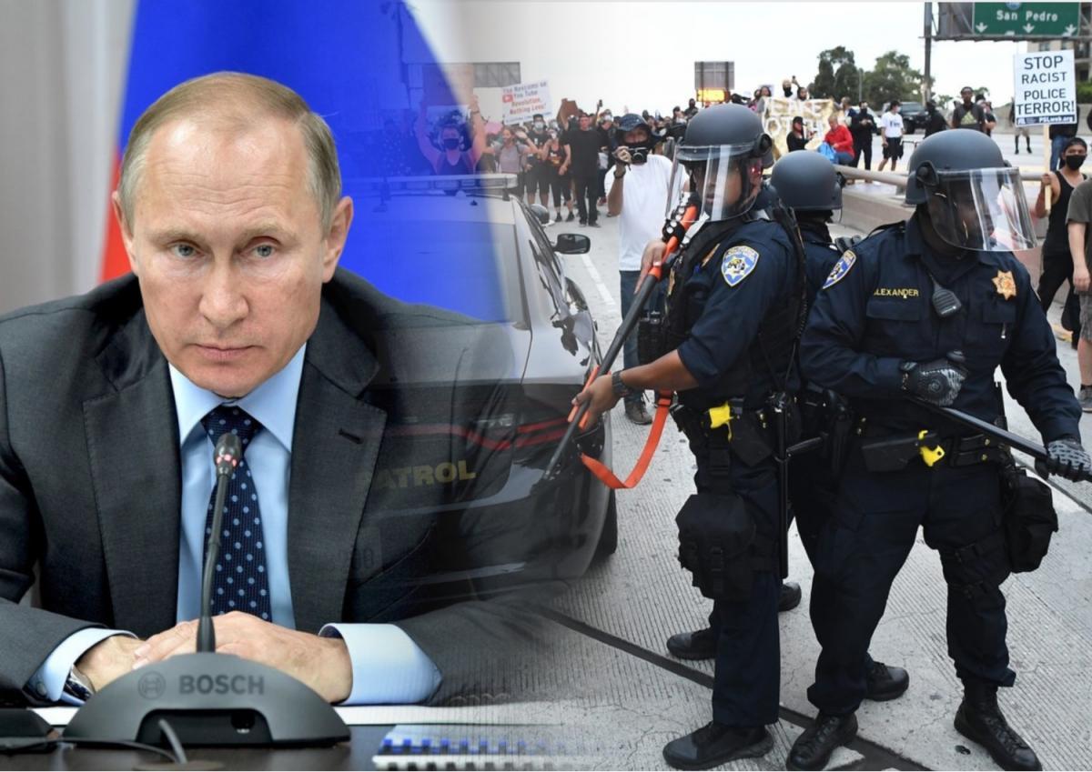 Владимир Путин, беспорядки в США