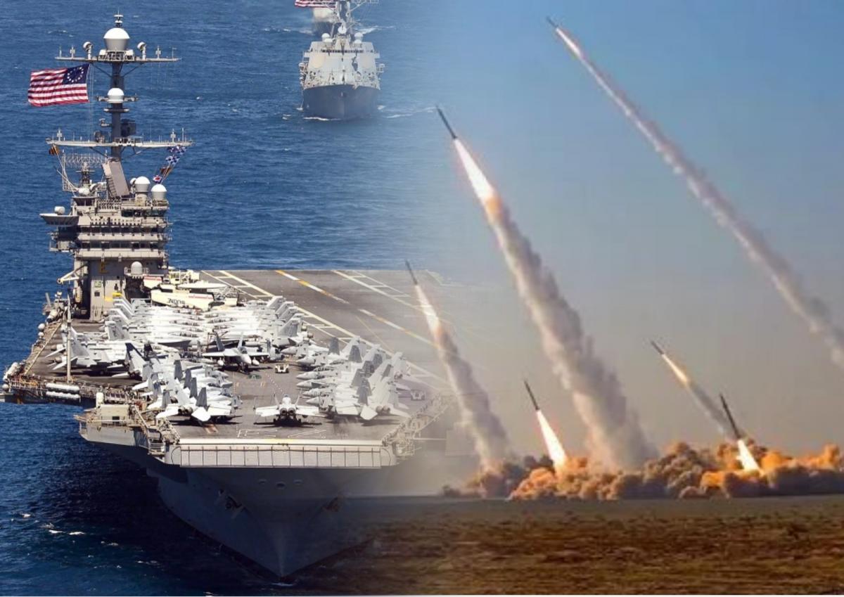 Иран напугал авианосец США запуском баллистических ракет по американским кораблям