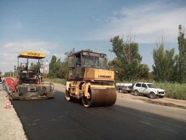 Ремонт дороги в Красноармейском районе Волгограда