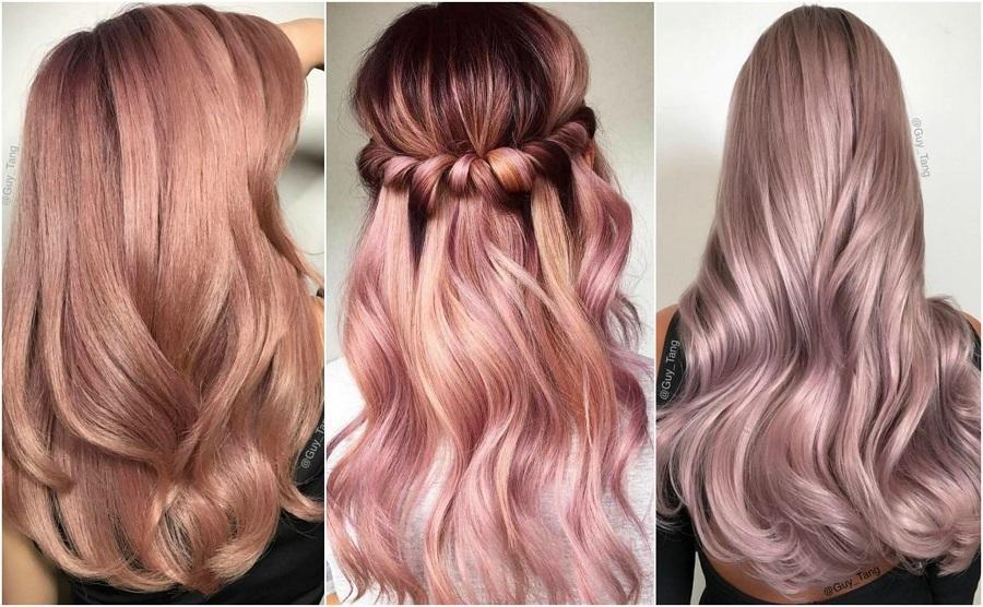 Нереальное розовое золото - Rose Gold, самое модное окрашивание волос в 2019 году: изумительные оттенки для блондинок, рыжих, русых и брюнеток