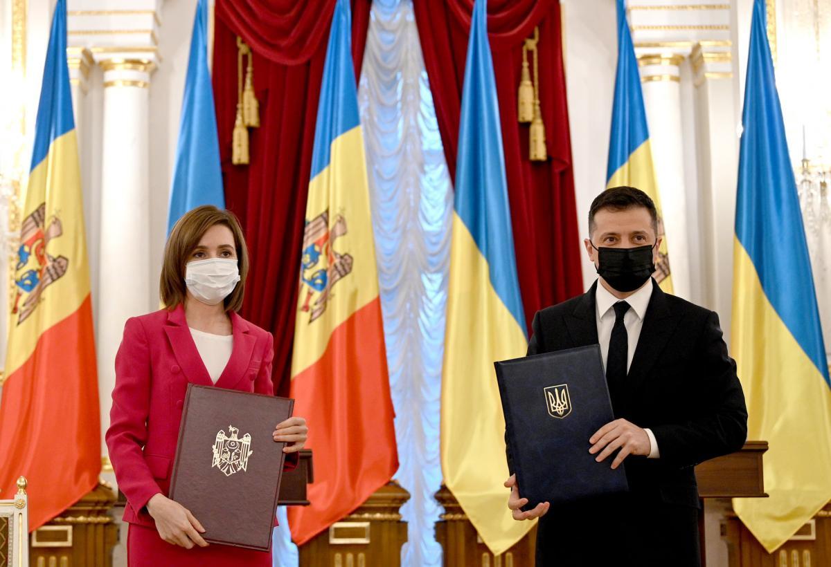 Майя Санду и Владимир Зеленский
