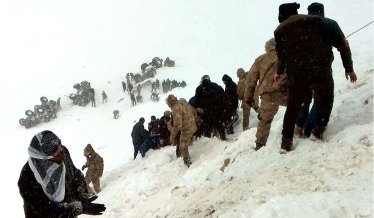 лавина сошла на спасателей в Турции