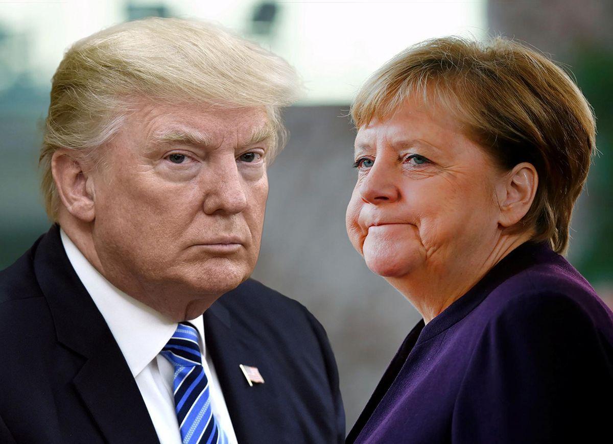 Трамп и Меркель картинки