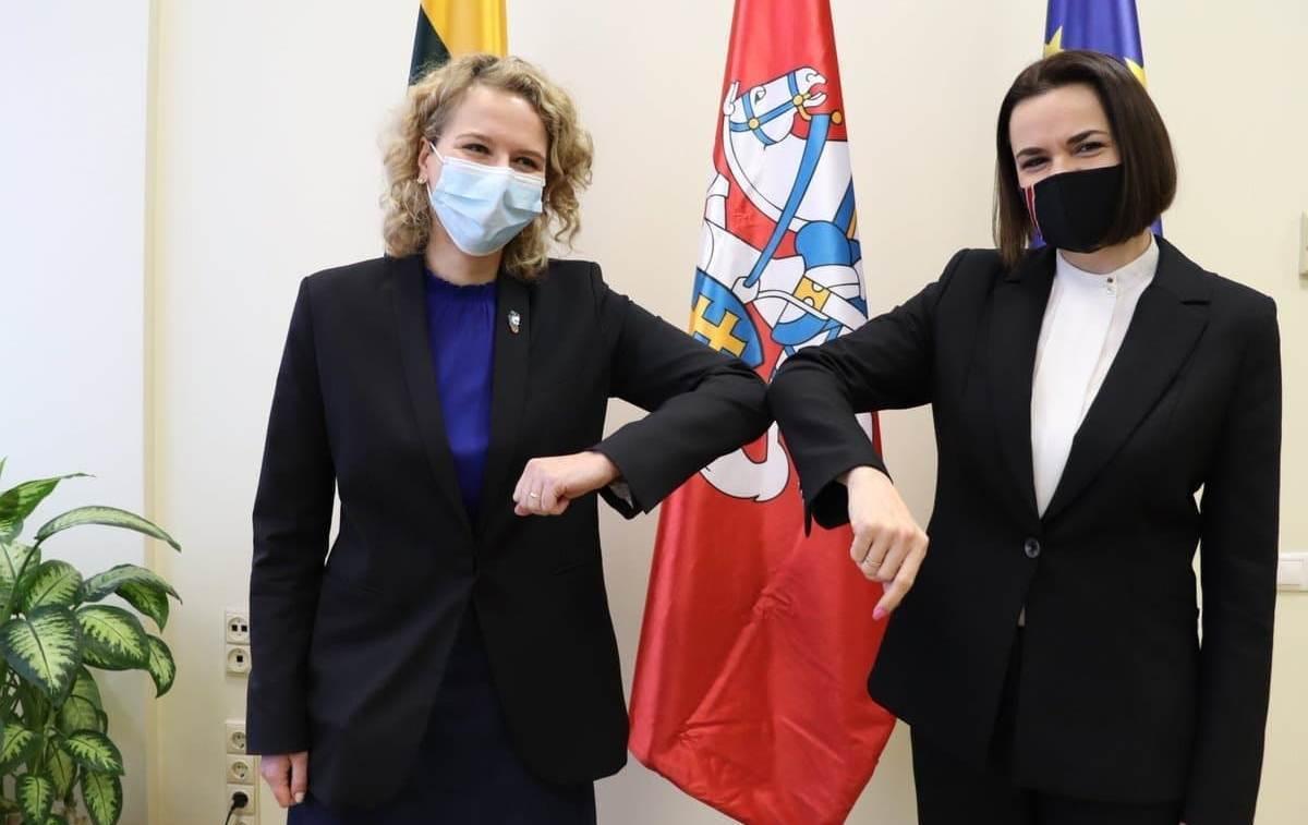Аушрине Армонайте и Светлана Тихановская