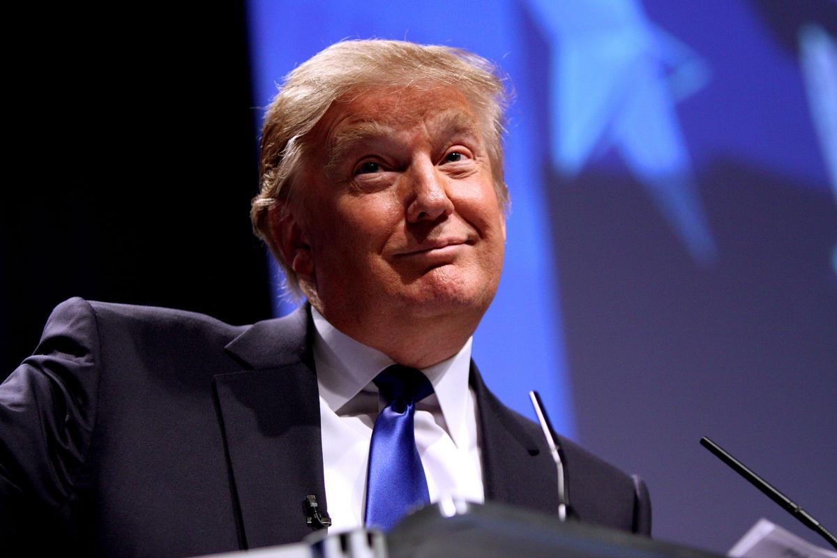 Трамп выступление улыбка