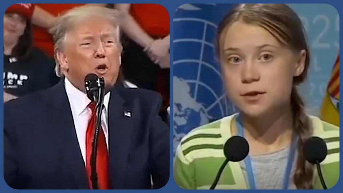 Дональд Трамп и Грета Тунберг