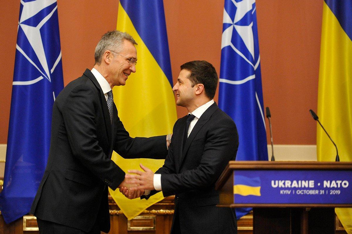 Украина НАТО Зеленский Столтенберг
