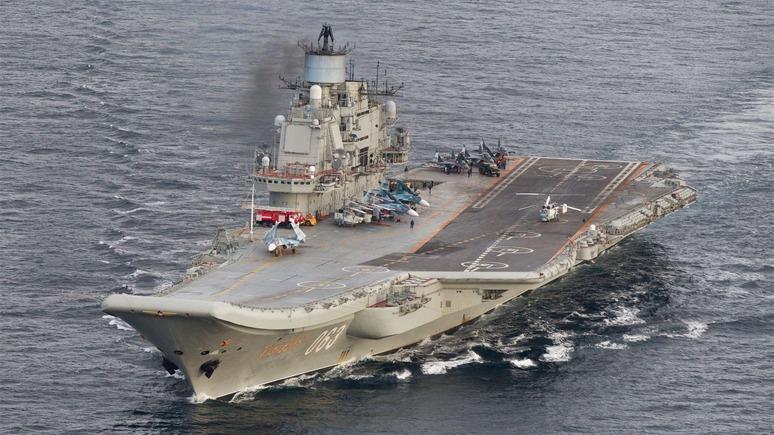 ВМинобороныРФ поведали, почему «Адмирал Кузнецов» прошел мимо портов Испании