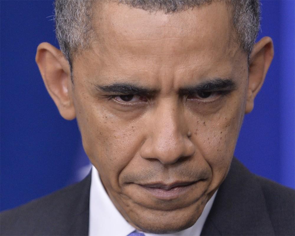Грустный Обама нашел причину изменений своей внешности
