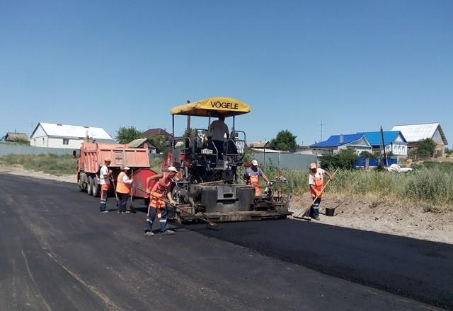 Ремонт дороги в селе Песчанка