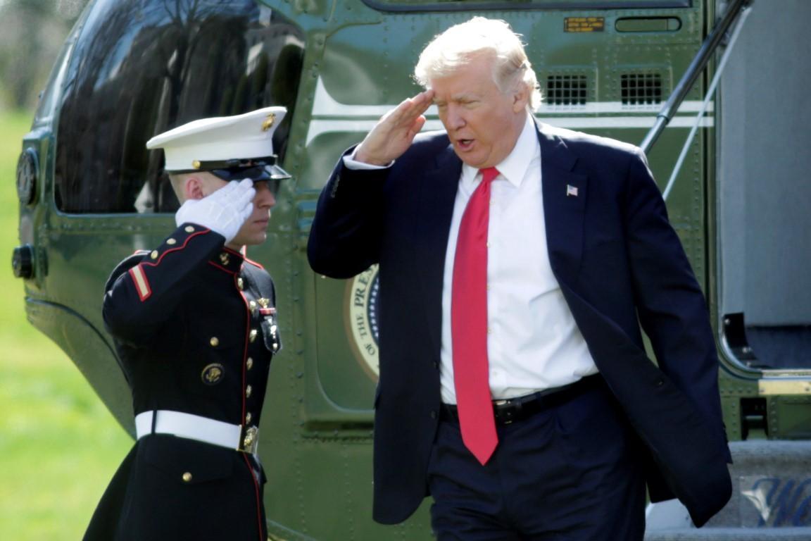 Трамп военные