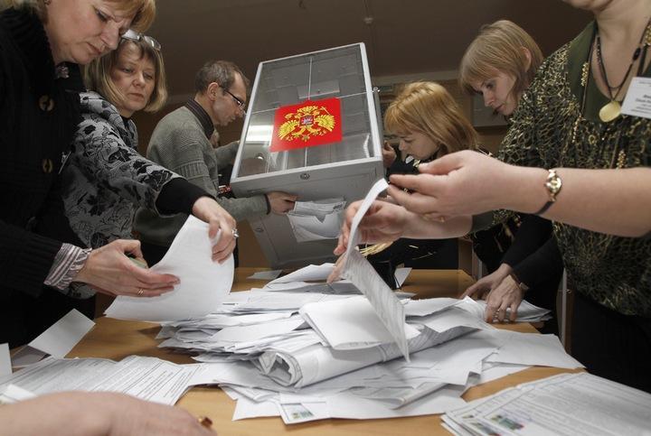 Выборы в Госдуму: Единая Россия лидирует после подсчета 40% голосов