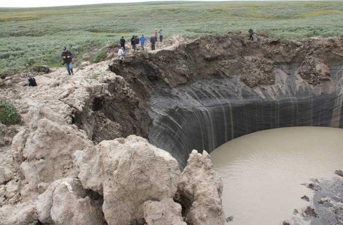 На Ямале ученые обнаружили единственный в мире ледяной вулкан