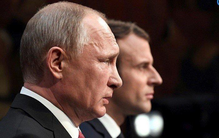 Макрон призвал Путина «сделать жест по Украине»
